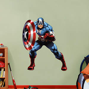 Captain America - Avengers Assemble Fathead Wall Decal